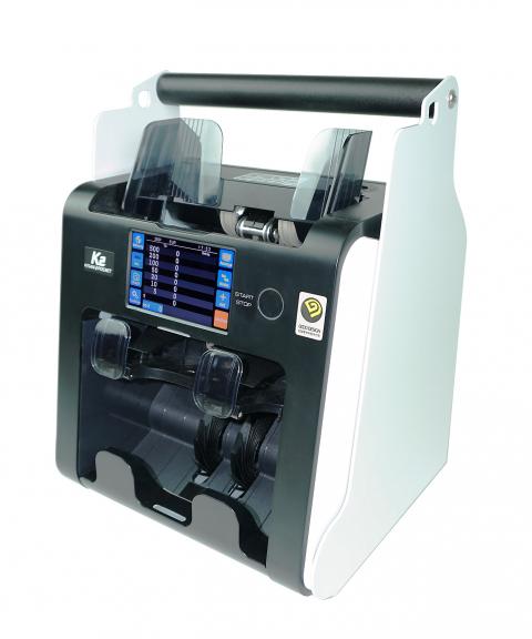 Geldzählmaschine mobil Kisan K2 tragbar