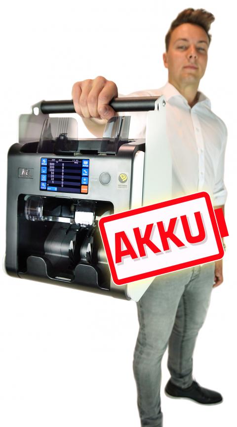 Geldzählmaschine K2 mit Akku tragbar