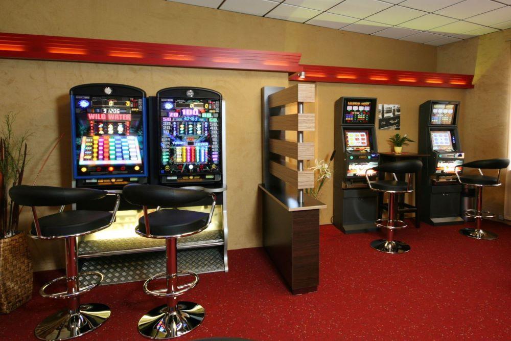 Geldzählmaschine in der Spielhalle