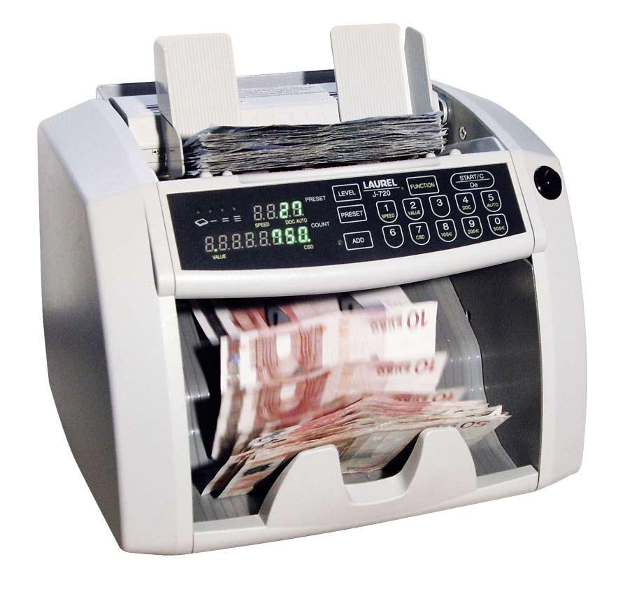Hochwertige Geldzählmaschinen Akkutechnik