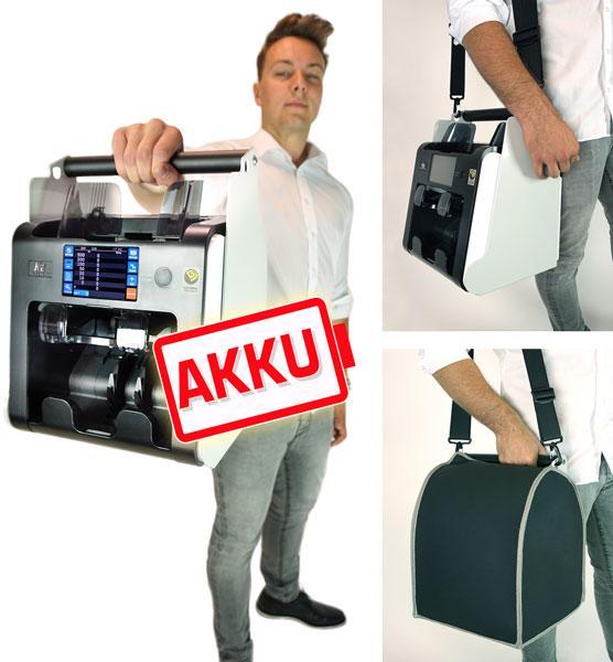 Scheinzähler Geldzählmaschine mit Akku